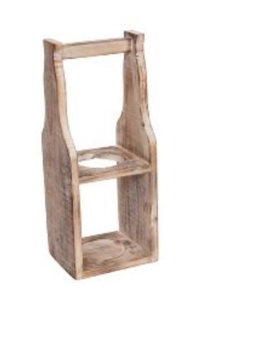 Holz-Weinständer 1er, quadratisch