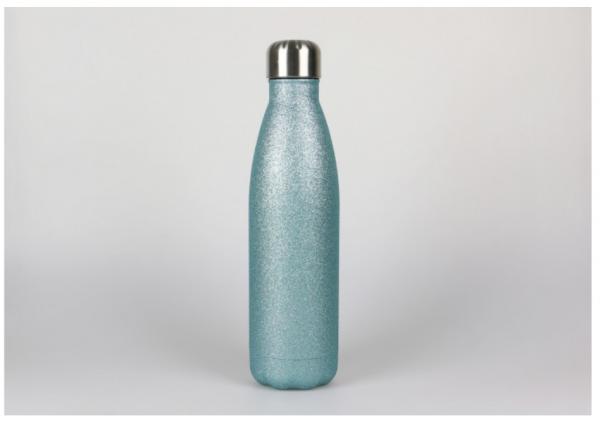 0,5l Thermoflasche Türkis-Glitter